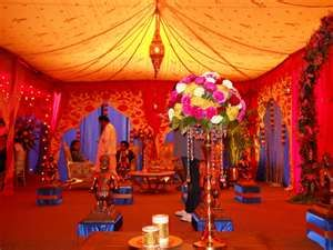 Indian Wedding Wedding Tent Orange Red Tent Design Indian