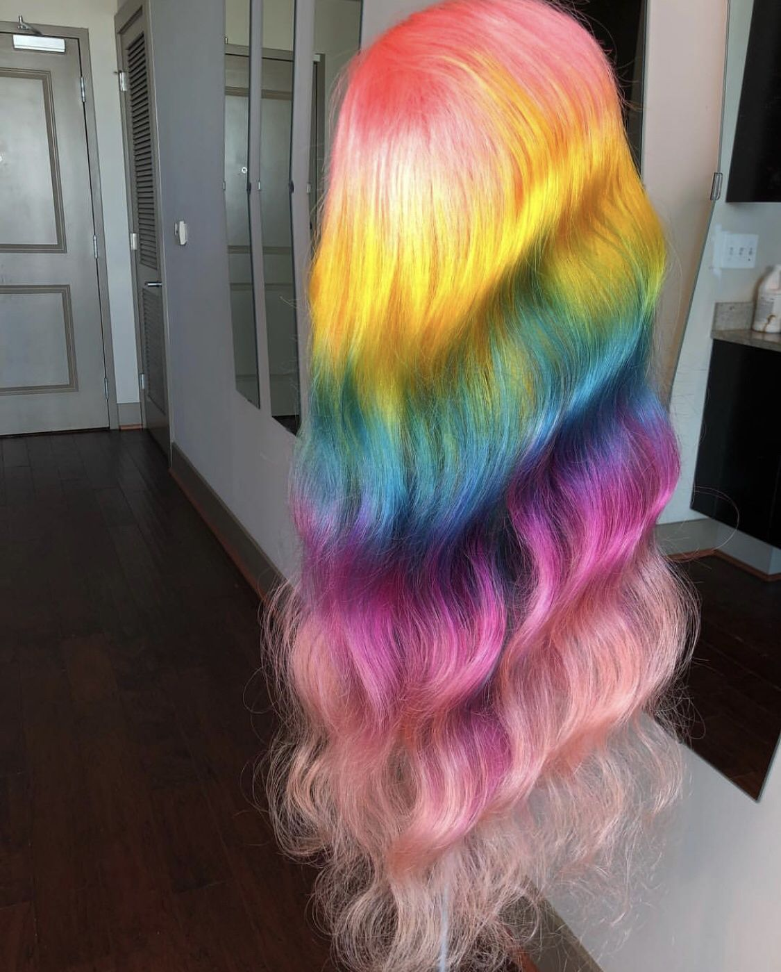 Pin By Maextensions On W I G S Honey Hair Color Rainbow Hair Color
