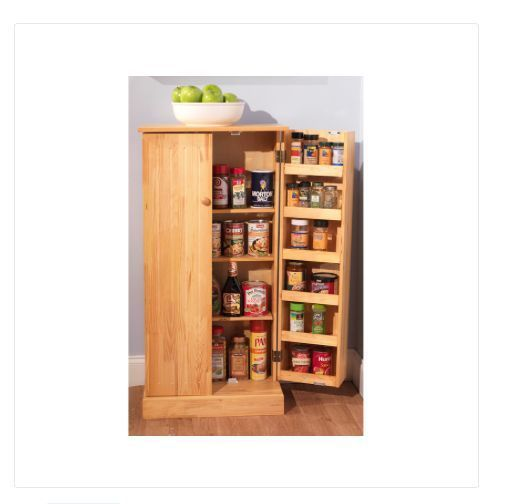 Kitchen Pantry Cabinet Solid Pine Wood Utility Storage Food