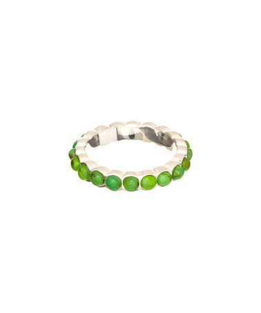 Look what I found on #zulily! Lime Turquoise & Silvertone Bead Ring by Barse #zulilyfinds