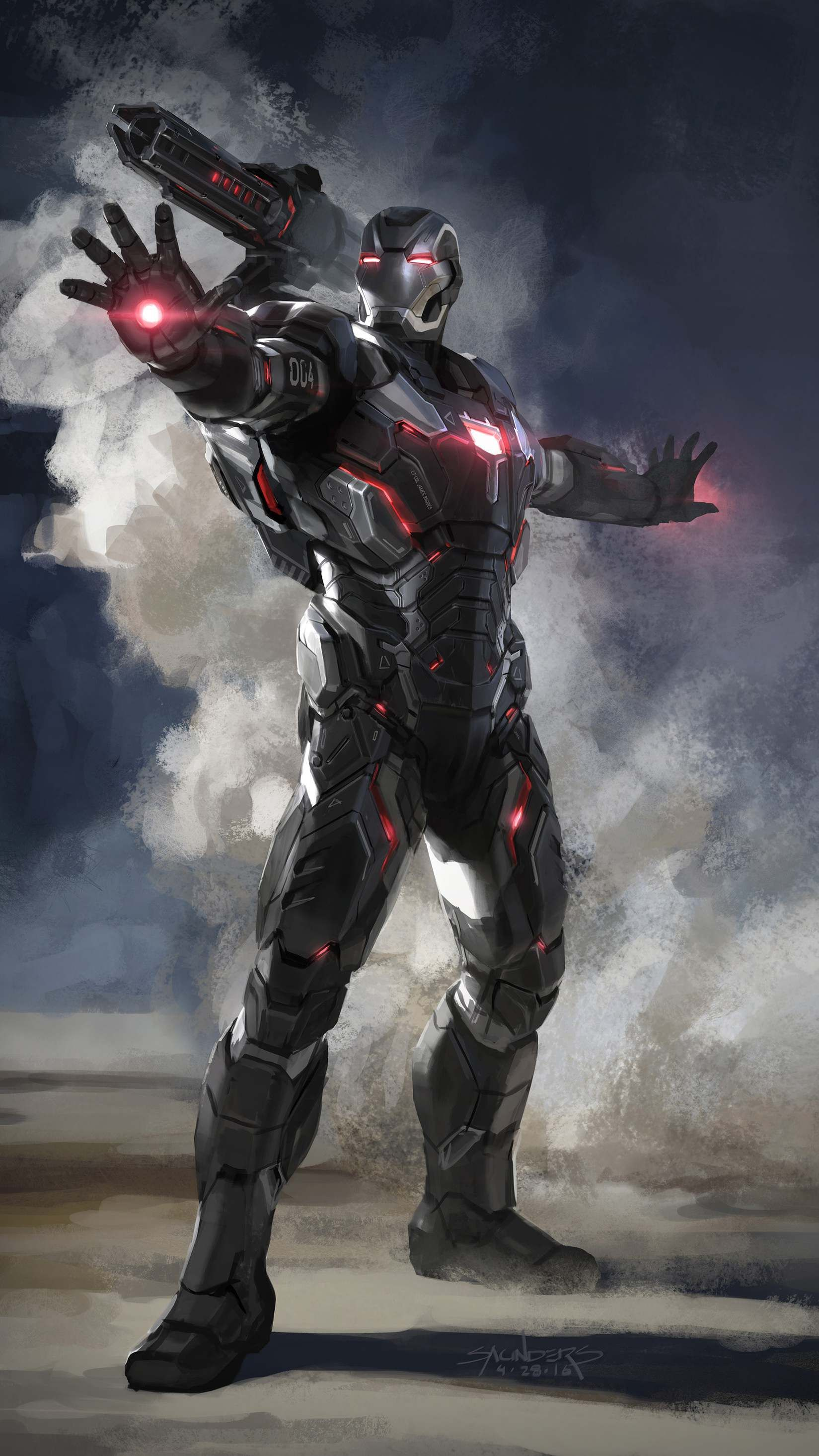 Avengers Endgame War Machine Armor Iphone Wallpaper Avengers