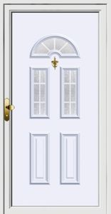 Plastic, aluminum entrance door with PVC THERMO PVC + ABS …