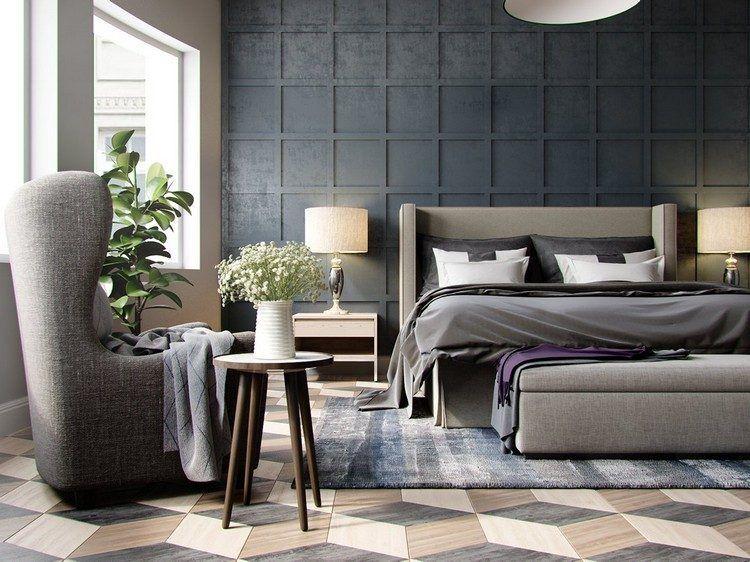 Panneau d coratif mural en 3d et parquet bois dans 12 pi ces id e d co chambre parement - Panneau mural chambre ...