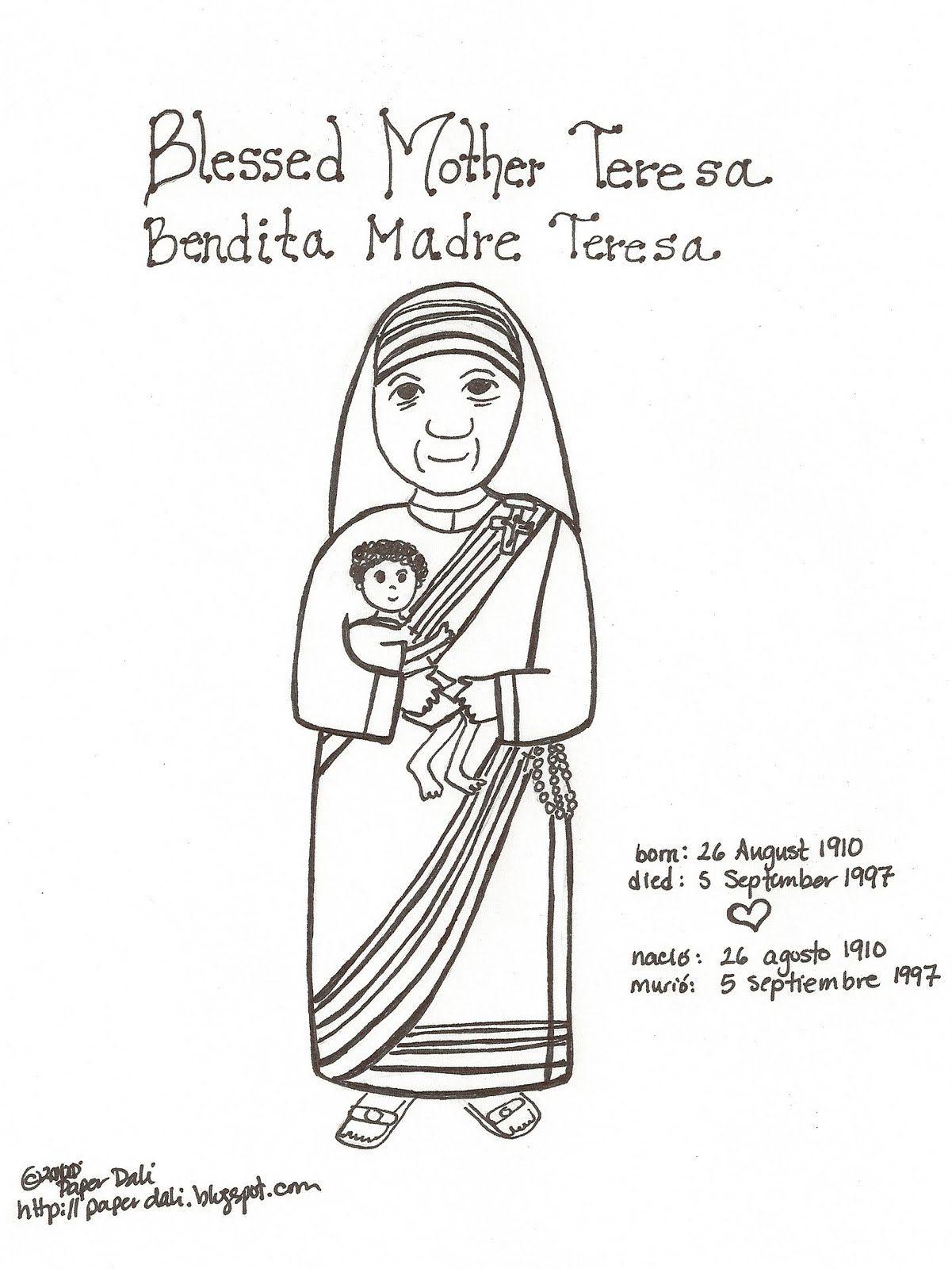 Paper Dali Blessed Mother Teresa Of Calcutta Bendita Madre Teresa