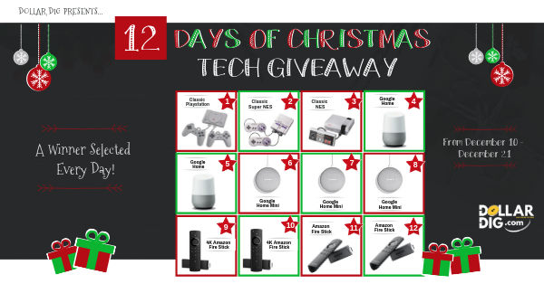 Enter To Win One Of Twelve Tech Prizes In The 12 Days Of Christmas Tech Giveaway A New Winner Will Christmas Contests Contests Sweepstakes Wedding Sweepstakes