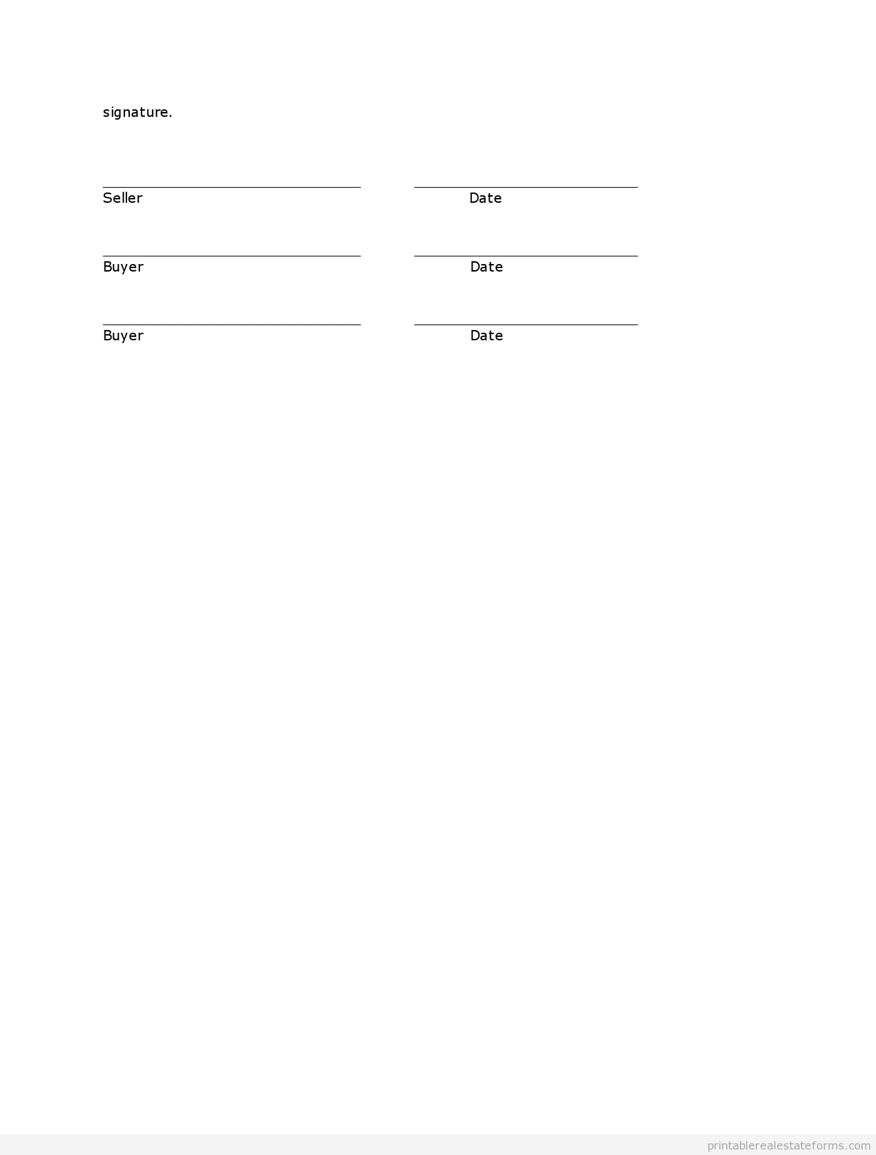 Free Printable Contract For Deed Sample Printable Contract To Sell On Land Contract Form  Printable .