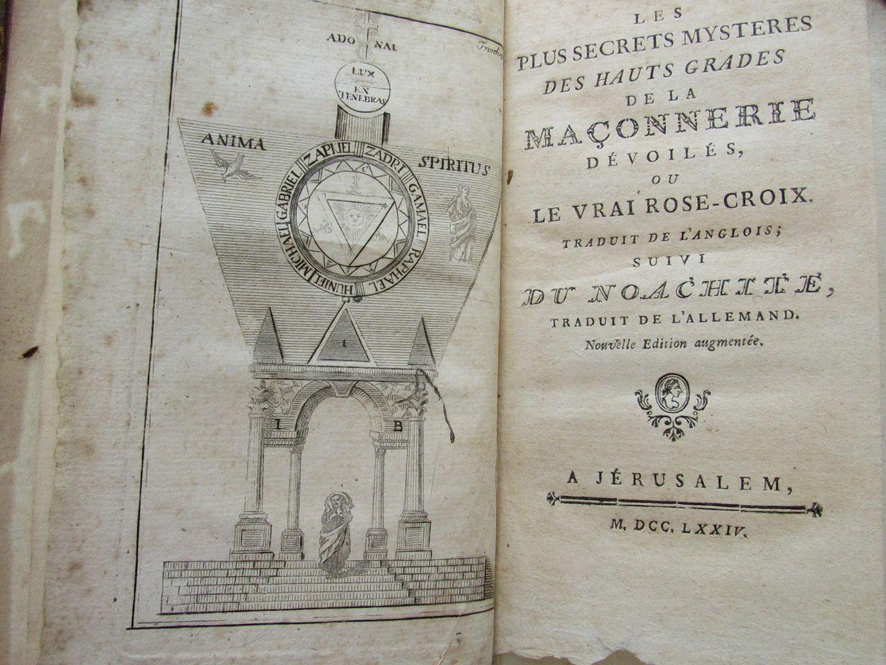 Anglois les plus secrets mystères des hauts grades de la maçonnerie
