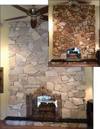 image result for painted white rock fireplace before and after fireplaces stone fireplace. Black Bedroom Furniture Sets. Home Design Ideas