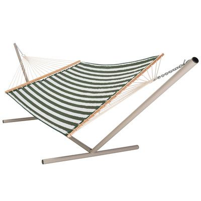 castaway hammocks large quilted polyester hammock color  green white castaway hammocks large quilted polyester hammock color  green      rh   pinterest