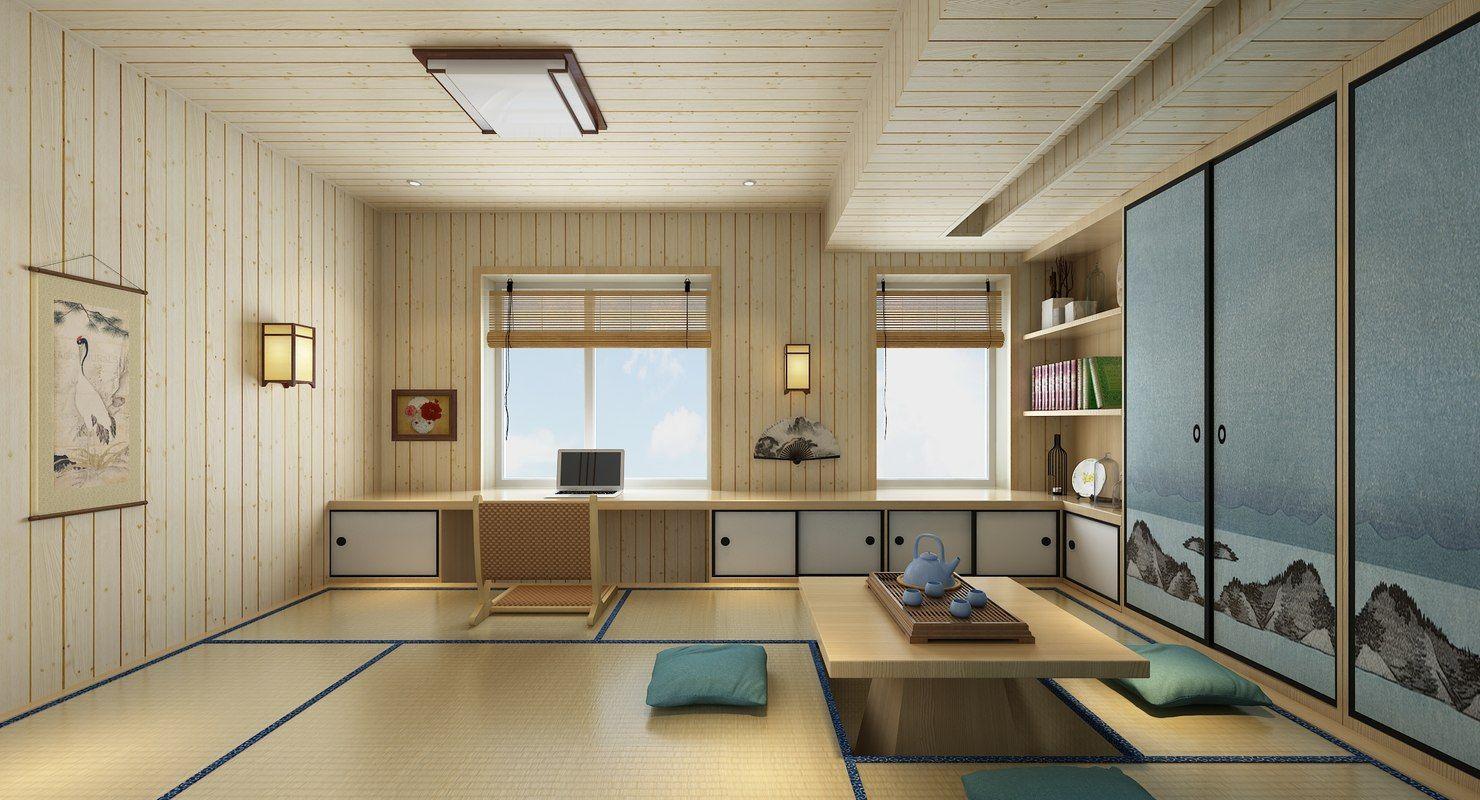 3d Japanese Room 3d Model Turbosquid Room Design Design