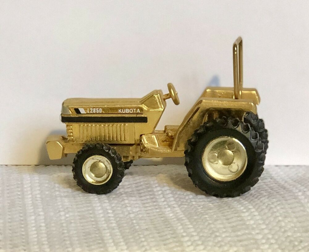 Details about Kubota L2850 1/64 Scale Gold Tractor FK-0609