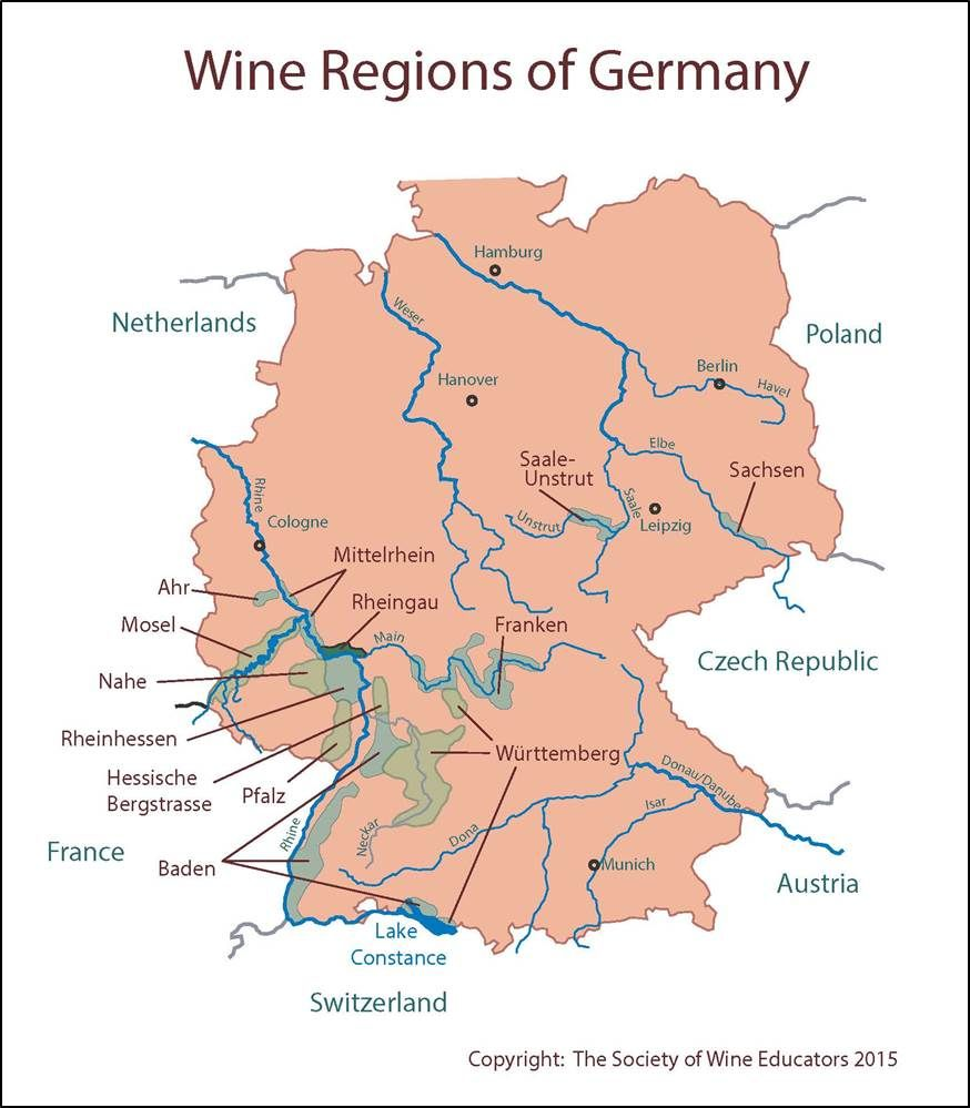 how to say wine in german