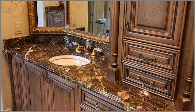 Pictures Of Marble Bathroom Countertops With Sinks Brown