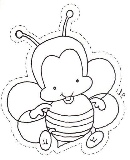 Desenhos De Abelha Para Pintar Colorir Ou Imprimir Abelhinha