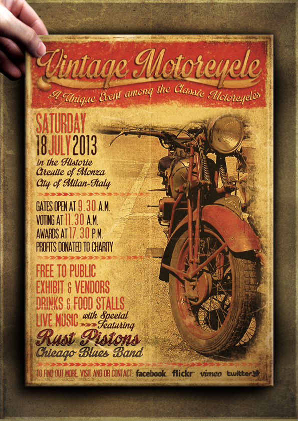 "The Flyer Poster Templates ""Vintage Motorcycle Vol. 1"" You'll find it on my website www.thecreativecat.it"