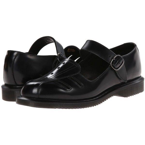 Dr. Martens Deardra Low Cut Mary Jane Women's Maryjane Shoes, Black (98 AUD) ❤ liked on Polyvore featuring shoes, black, leather mary jane shoes, black mary janes, mary jane shoes, slip resistant shoes and polish shoes