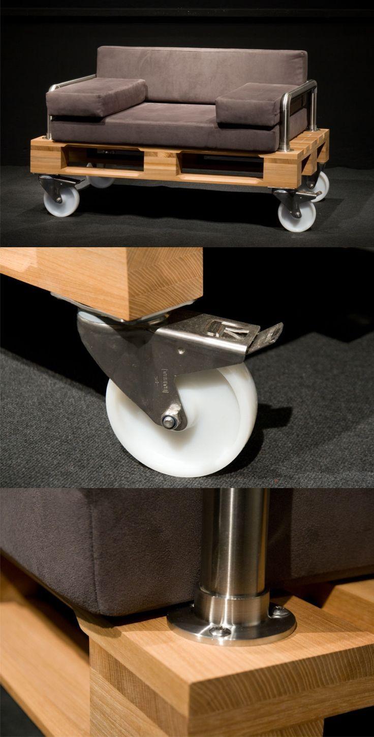 Ingenioso diseño para sofá con palé | Sofá, Vías y Palets