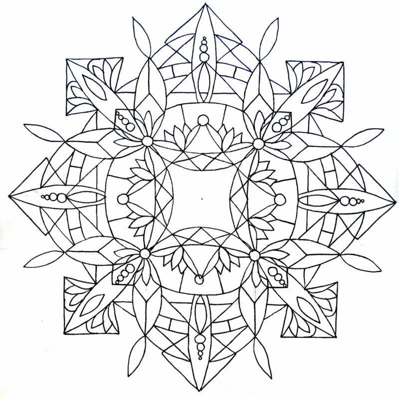 Abstraktes Mandala | ausmalbilder | Pinterest | Mandala vorlagen ...