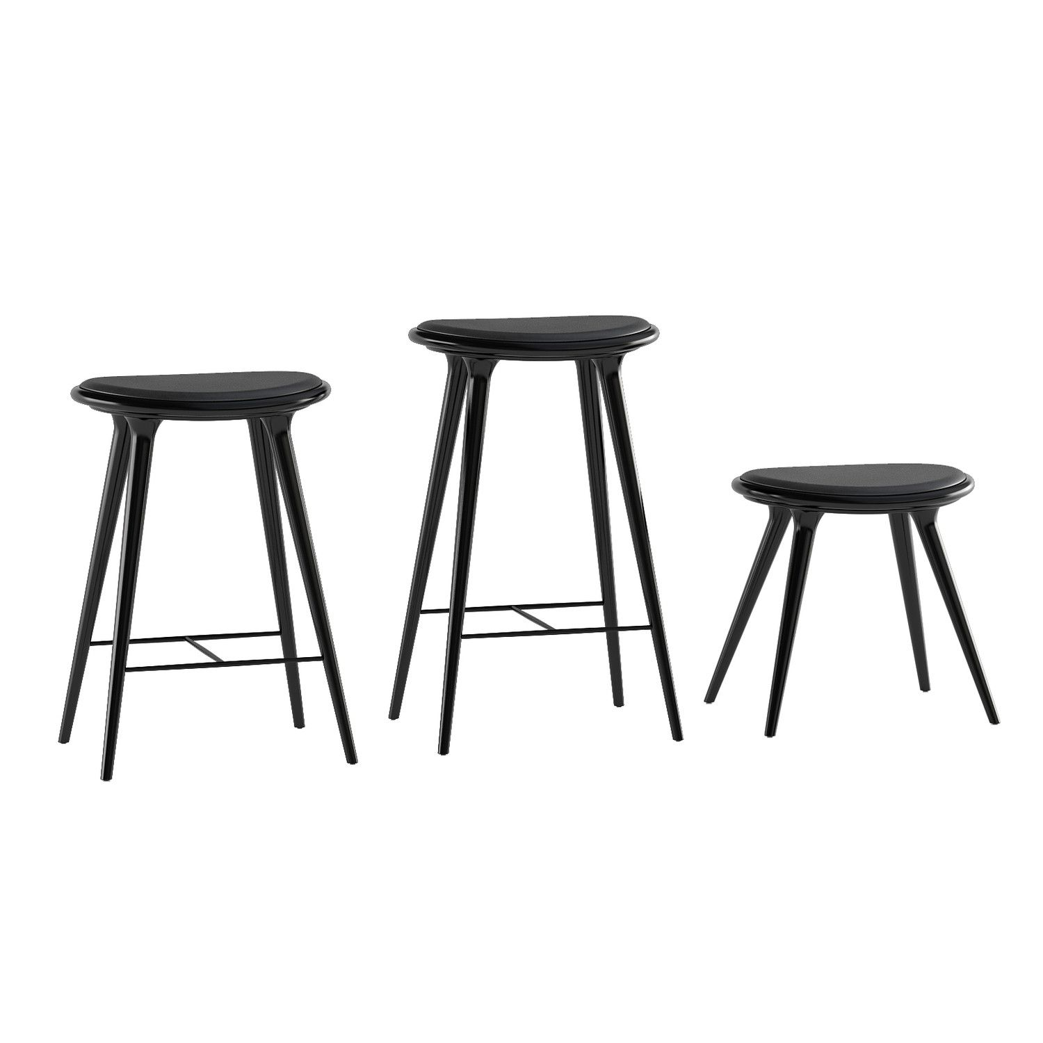 Low Stool Black Hard Wood By Space/ dk :) | High stool ...