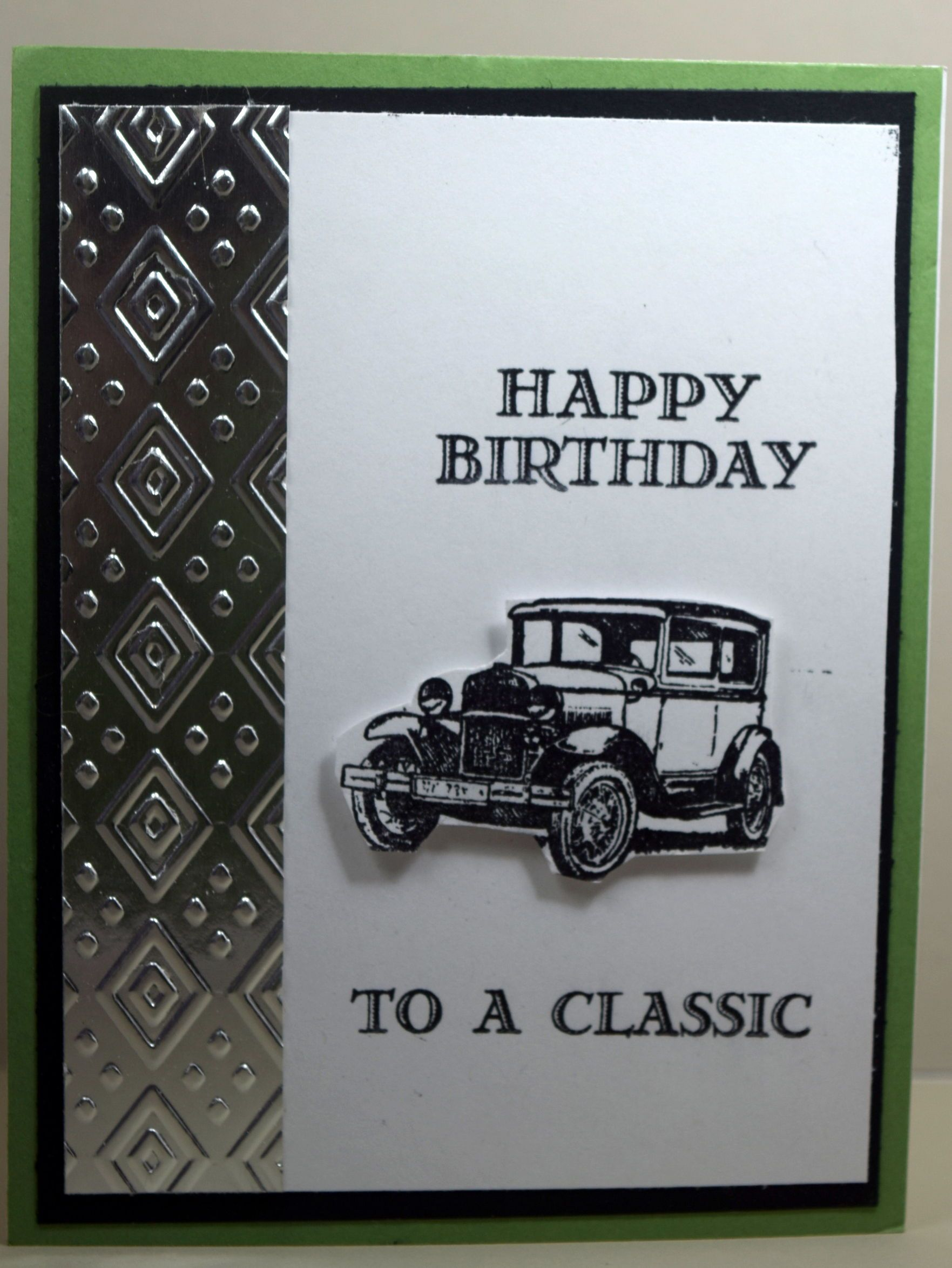 Stampin Up Birthday Card Made With Guy Greetings Stamp Set And Designed By Demo
