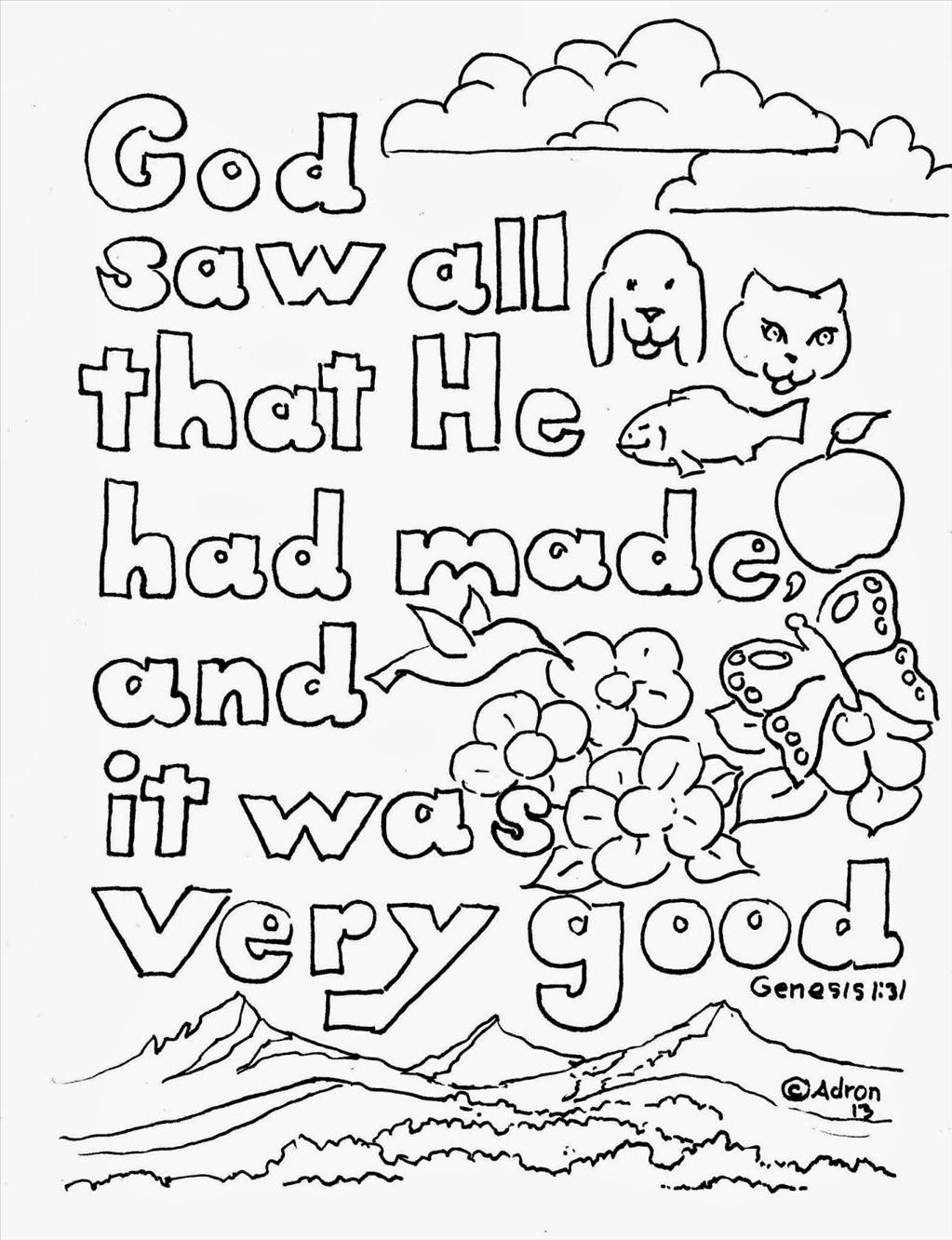 Bible Coloring Pages | Bible verse coloring page, Creation ...