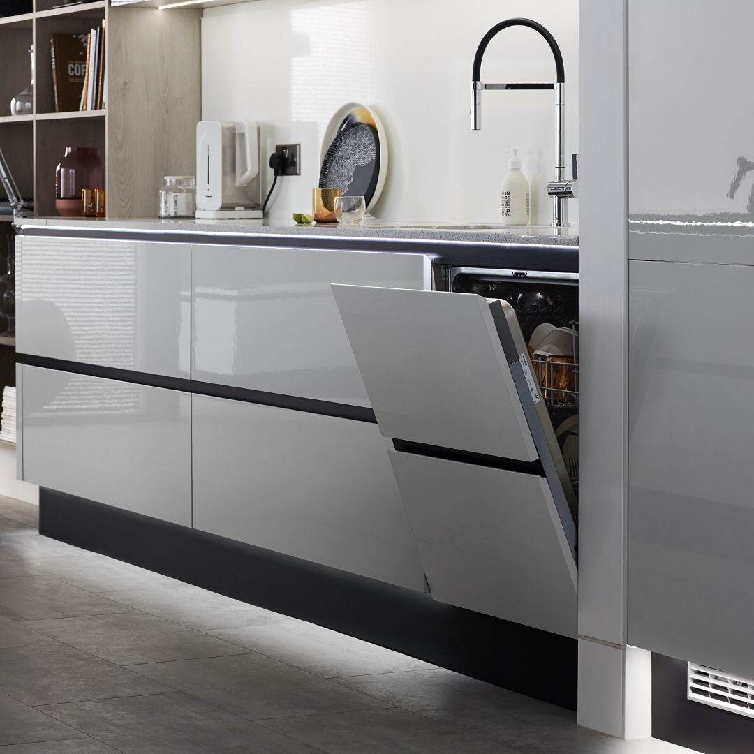 Howdens On Instagram Make Your Kitchen Pop With Our Selection Of Accent Coloured Plinths The Black Plinths I Kitchen Plinth Grey Gloss Kitchen Gloss Kitchen