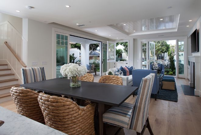Cape Cod California Beach House With Blue And White