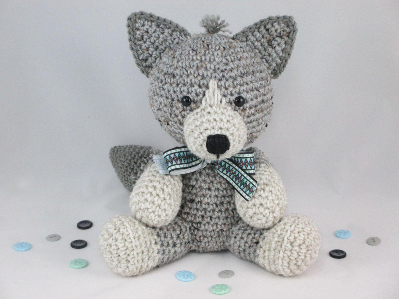 Crochet Stuffed Wolf, Crochet Wolf, Amigurumi Wolf, Crochet Husky ...