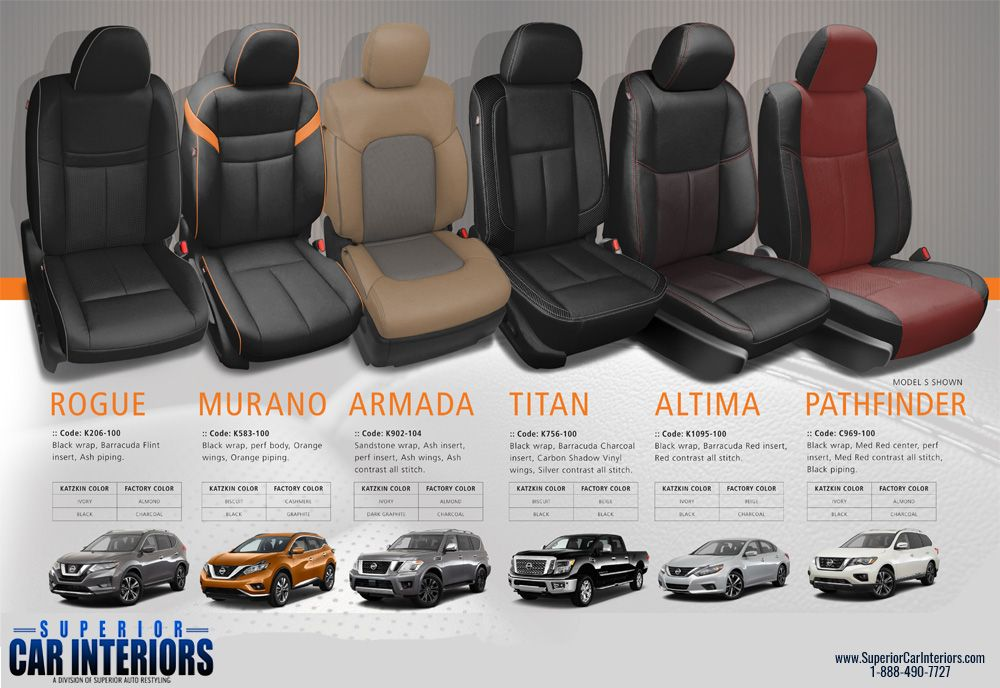 Get custom Katzkin leather seats for your Nissan from