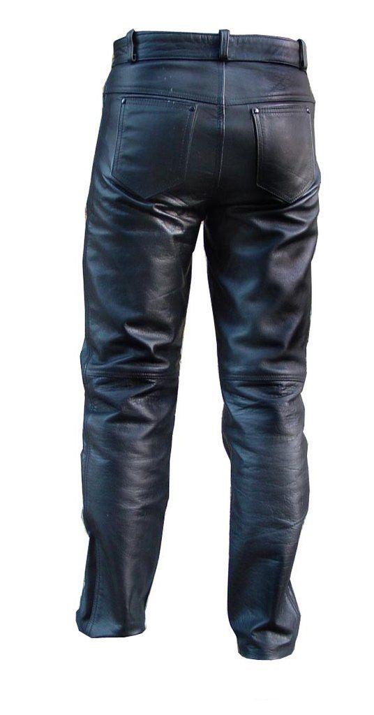 Charpentier panatlon cuir Zimmermannshose Leder Carpenter Leather Pants black