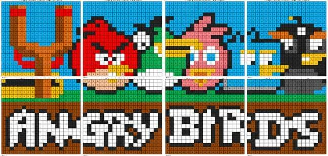 Angry Birds Color By Number Mural Coloring Squared Angry Birds Angry Birds Characters Bird Coloring Pages