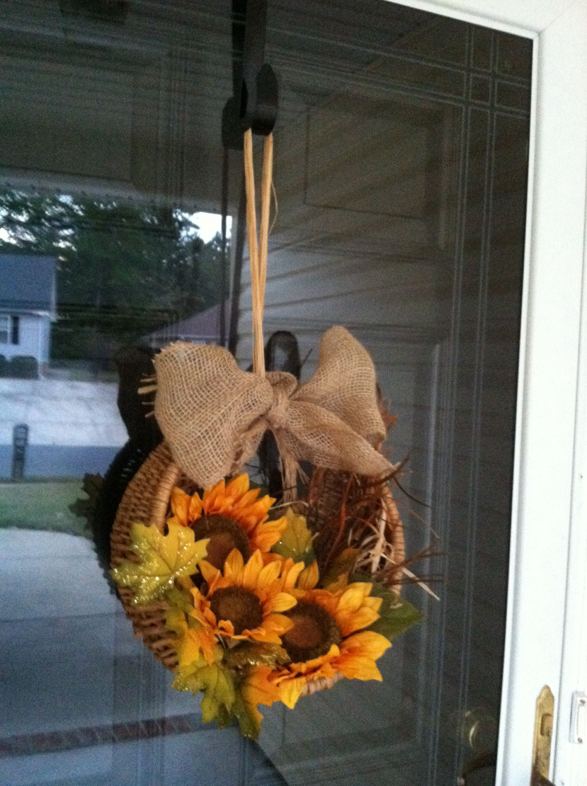 DIY Fall wreath...first time & pleased!! :-)