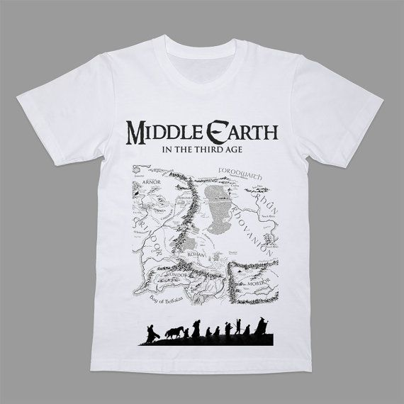 Middle Earth Lotr Shirt Lord Of The Rings T Shirt Hobbit Tee Old Map T Funny Nerdy Fellowship Of The Ring Geek Lotr Shirt Shirts Old Map