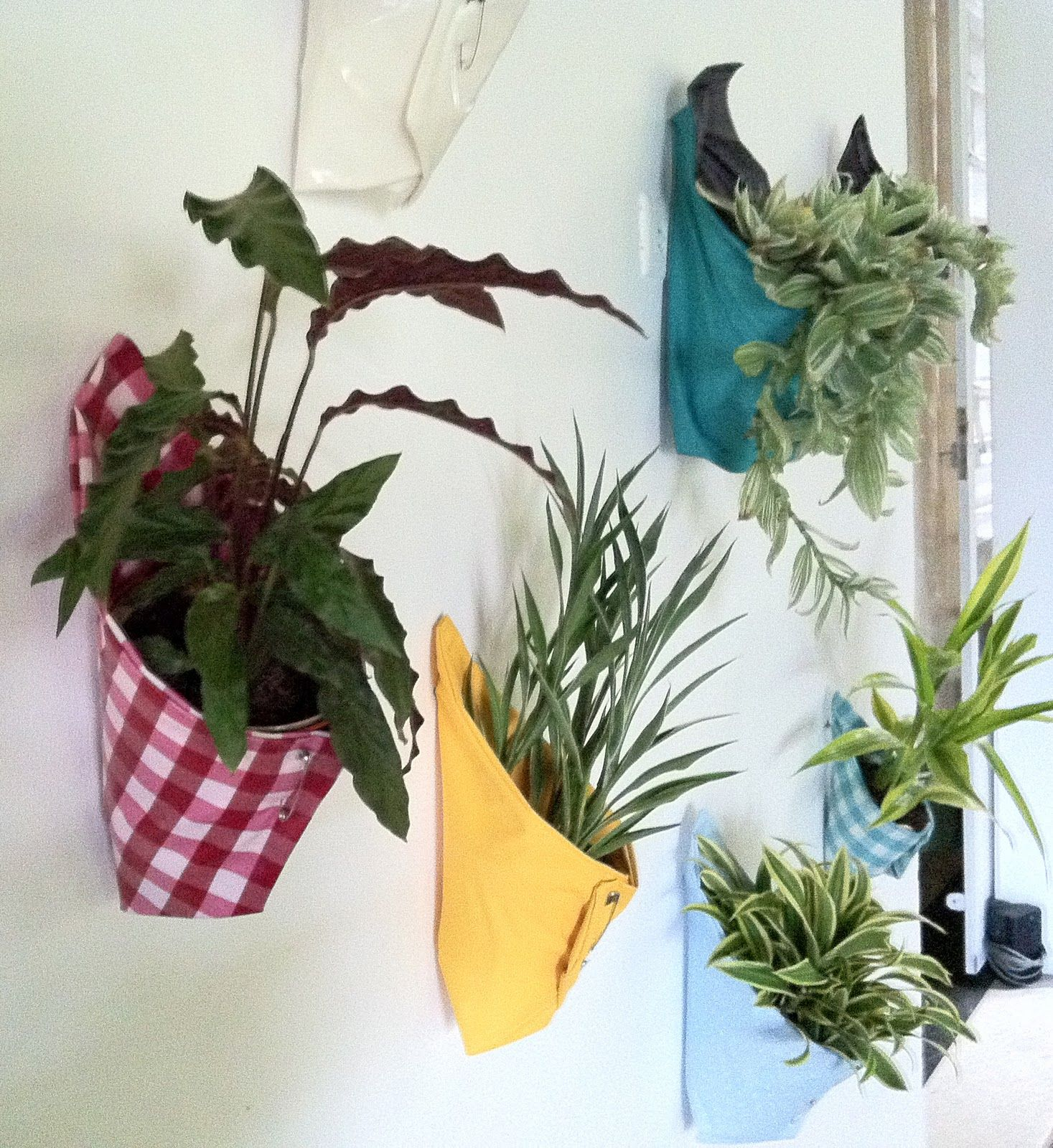 Vertical Garden, Made With Favorite Fabric