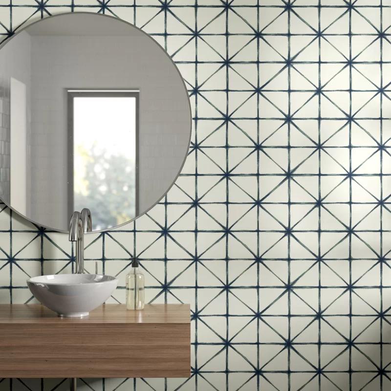 Eila Modern 16 5 L X 20 5 W Geometric Peel And Stick Wallpaper Roll Allmodern In 2020 Peel And Stick Wallpaper Wallpaper Roll All Modern