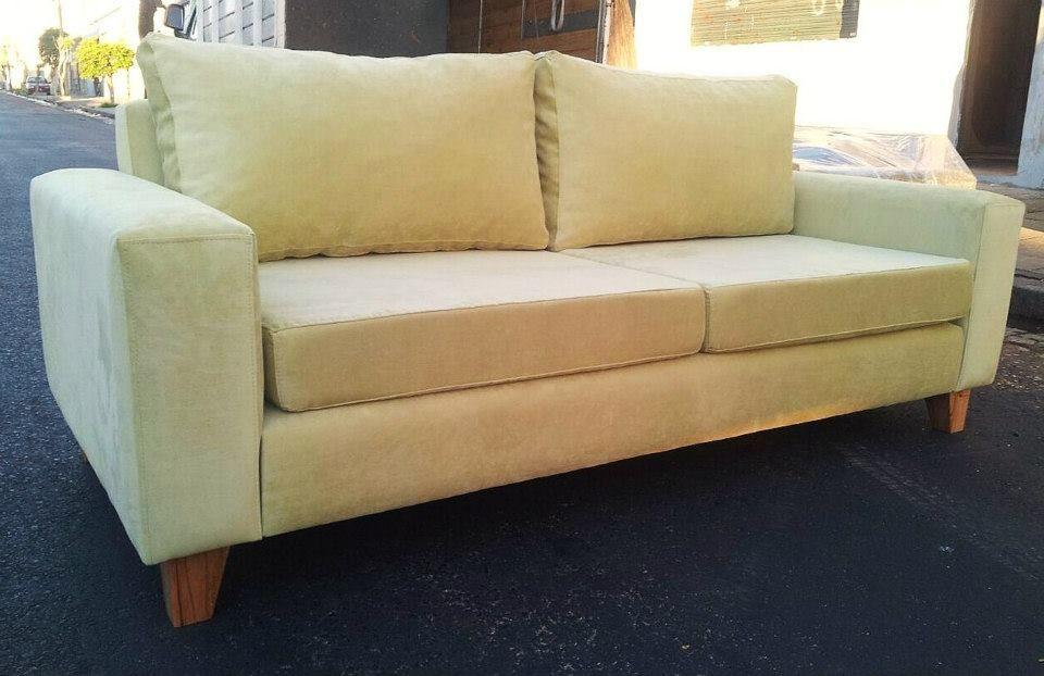 Sof cubo 200x90 tapizado en panne lima con asiento de - Patas para sofas ...