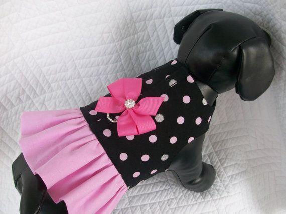 Polka Dot Glitter Dog Dress. by graciespawprints on Etsy
