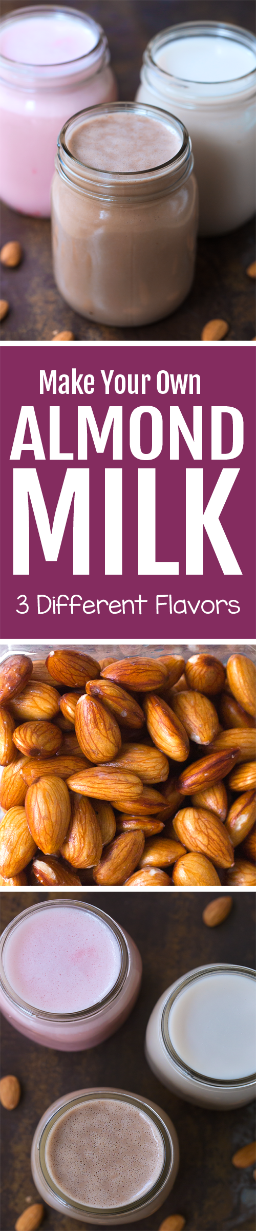 How To Make Your Own Almond Milk In Chocolate Strawberry