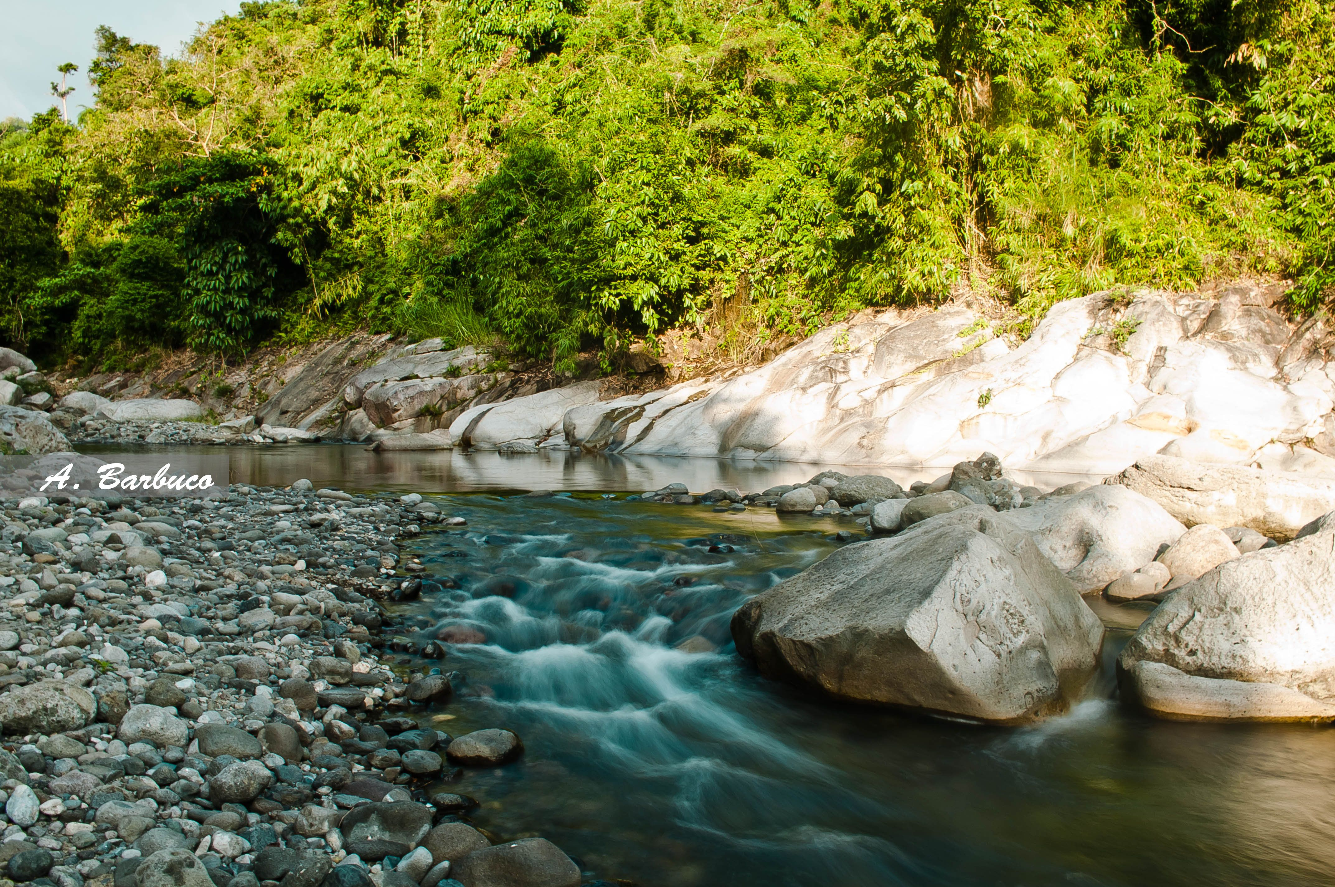 A clear water on the River of Tapuacan River, Water