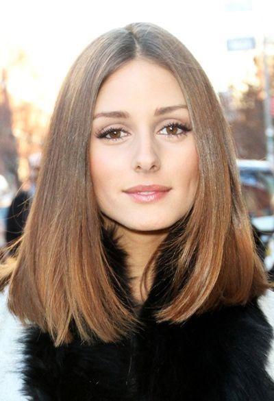 Eine Lange Mittlere Frisuren Frisuren Schulterlange Haare Eine
