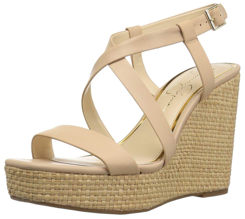 33372c2a02b6 Jessica Simpson Women s Salona Wedge Sandal. Spring%2Fsummer wedge sandal  Jessica Simpson is famous