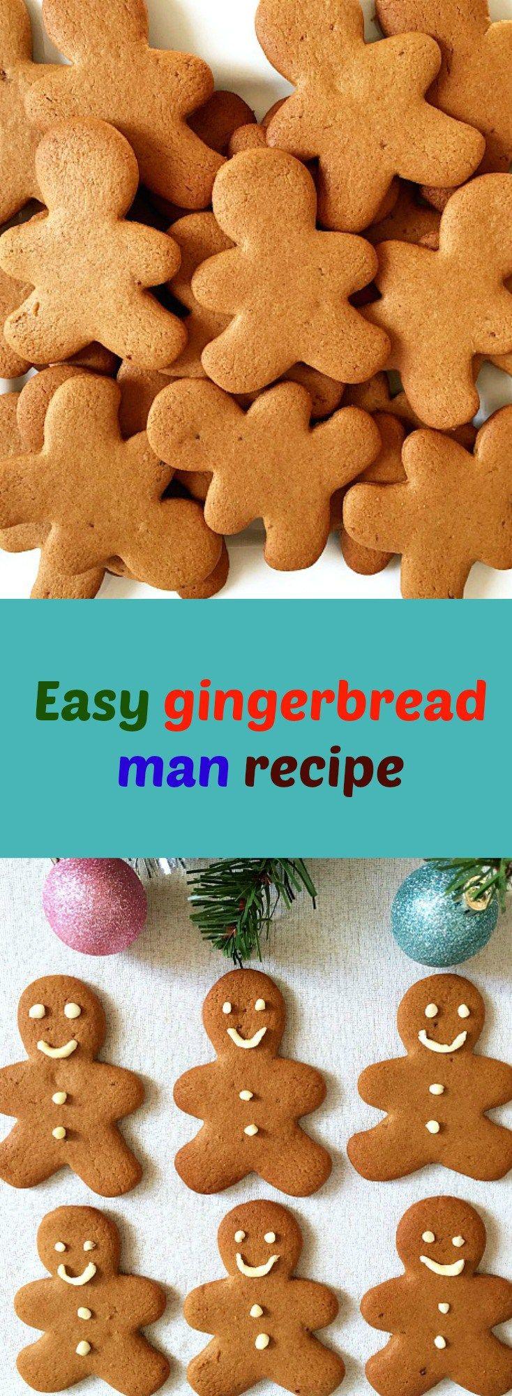Easy gingerbread man recipe, a fun way to get Christmas