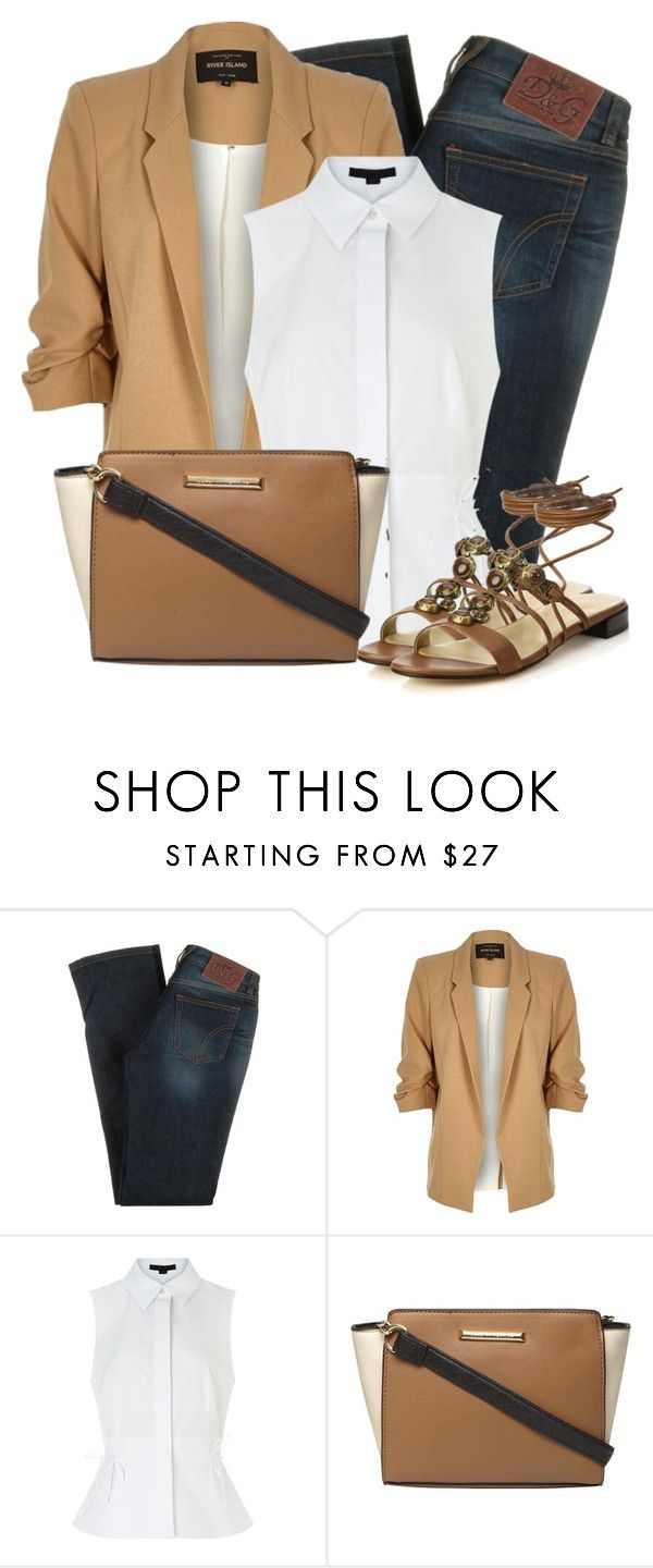 """""""Untitled #5416"""" by cassandra-cafone-wright ❤ liked on Polyvore featuring D&G, River Island, Alexander Wang, Dorothy Perkins and Stuart Weitzman"""