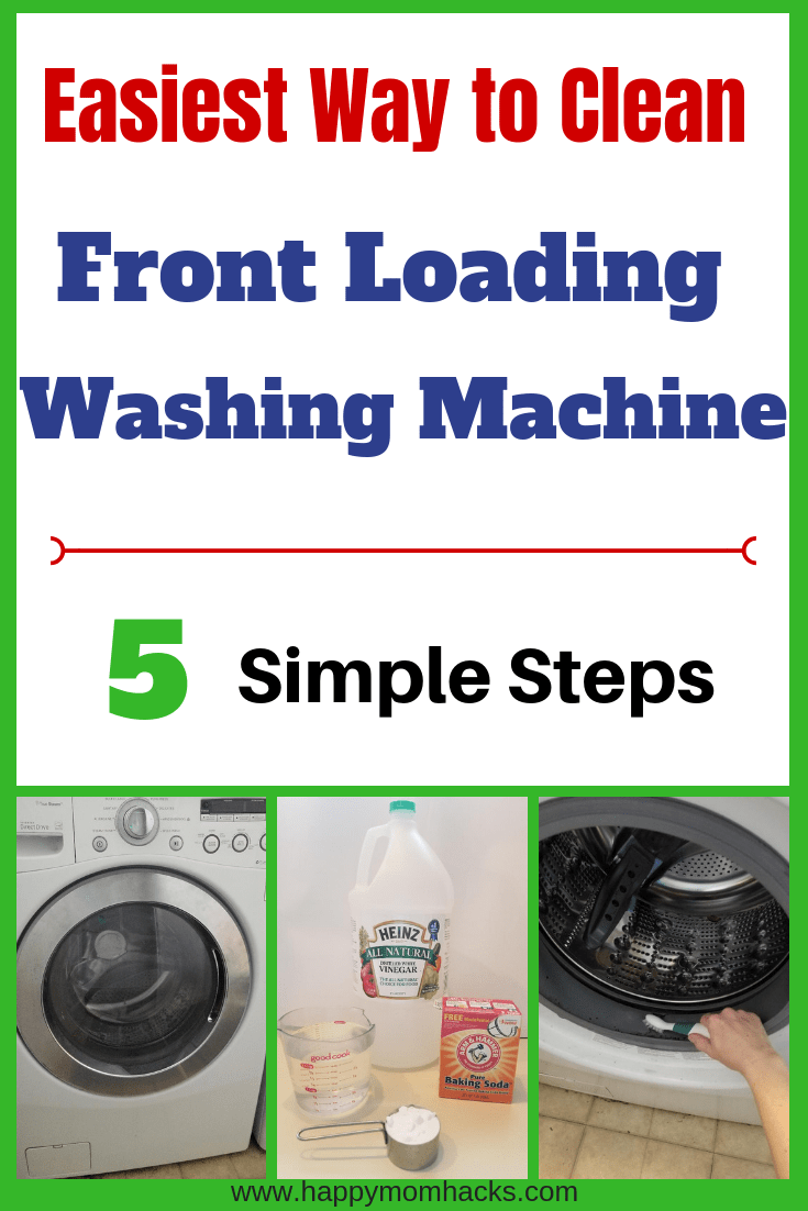 How To Clean A Front Loading Washing Machine With Bleach Happy