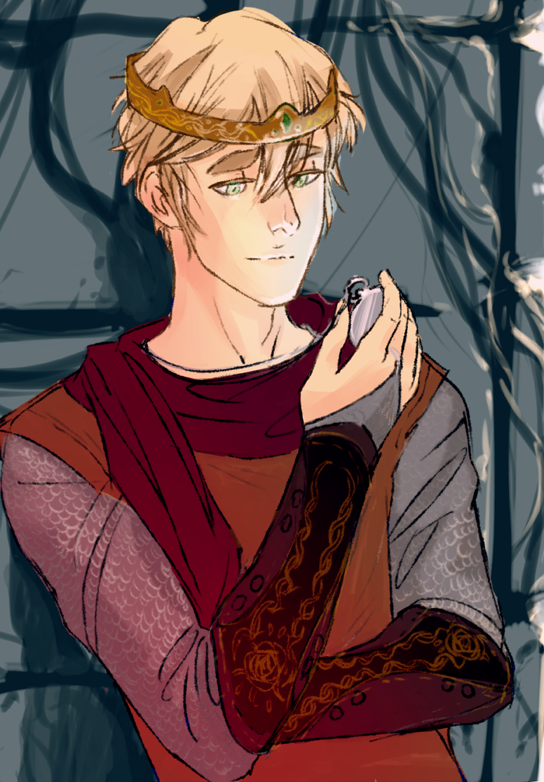 Arthur as a Medieval king Art by