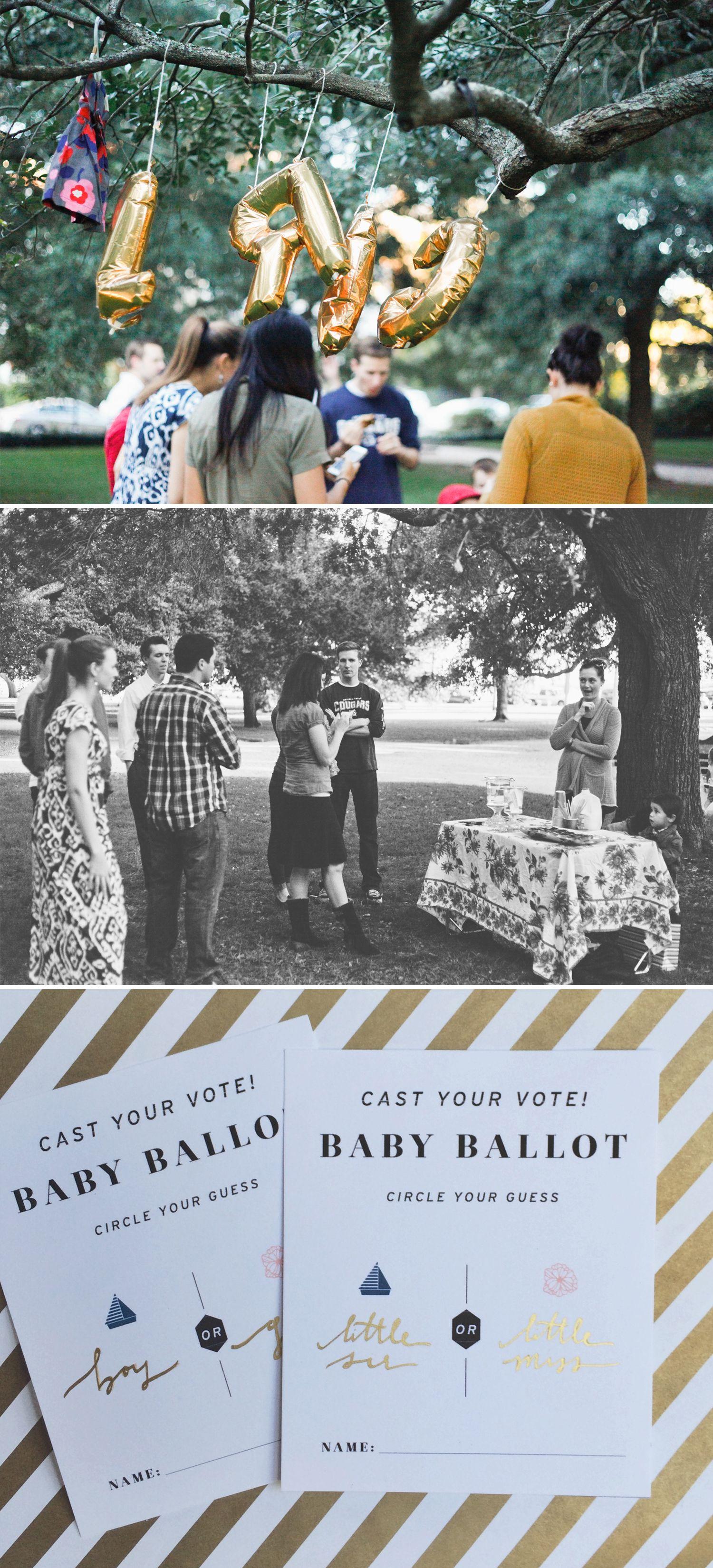 gender reveal party B A B Y Pinterest