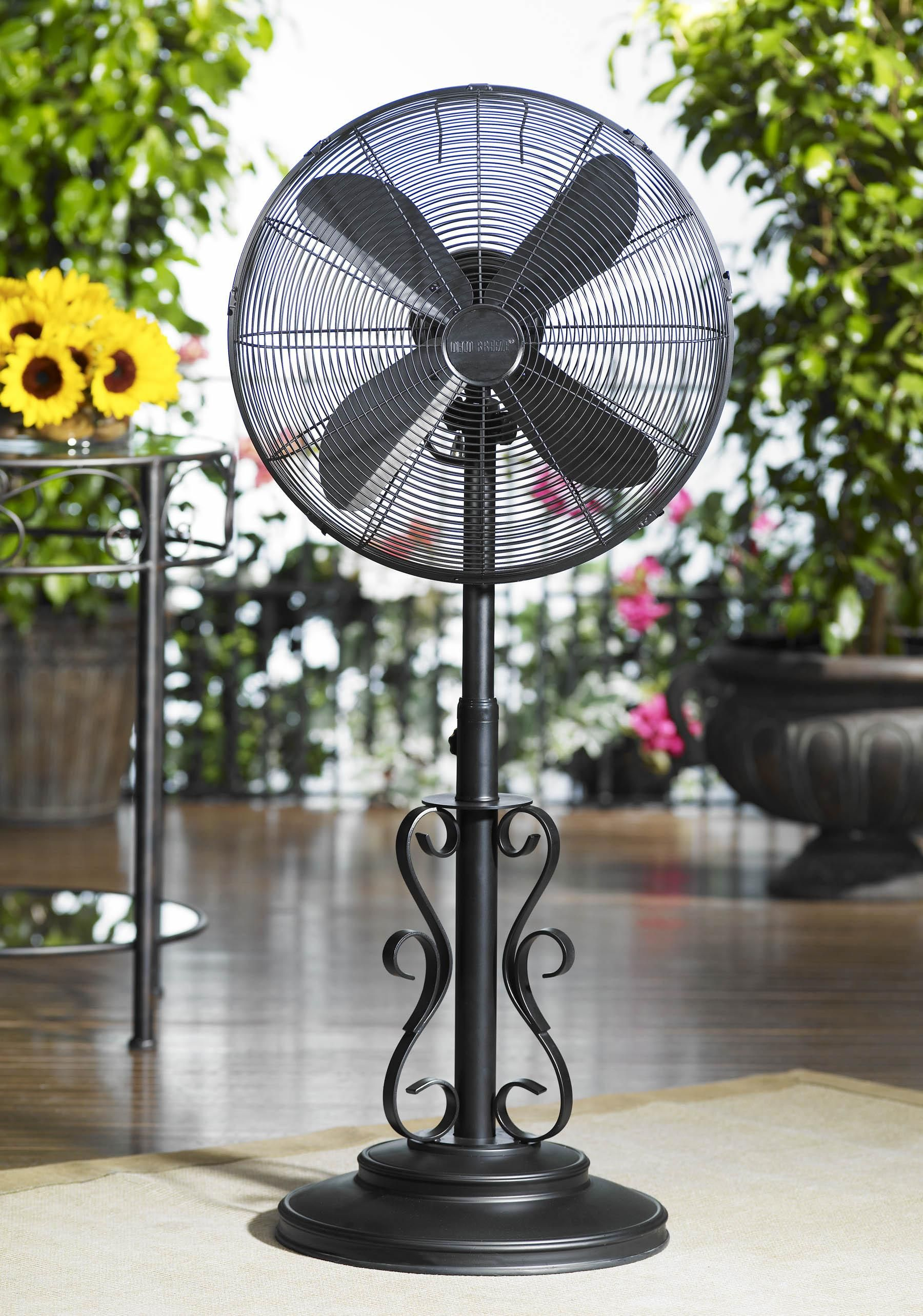Deco Breeze Ebony 19 Wide Outdoor Floor Fan Lampsplus