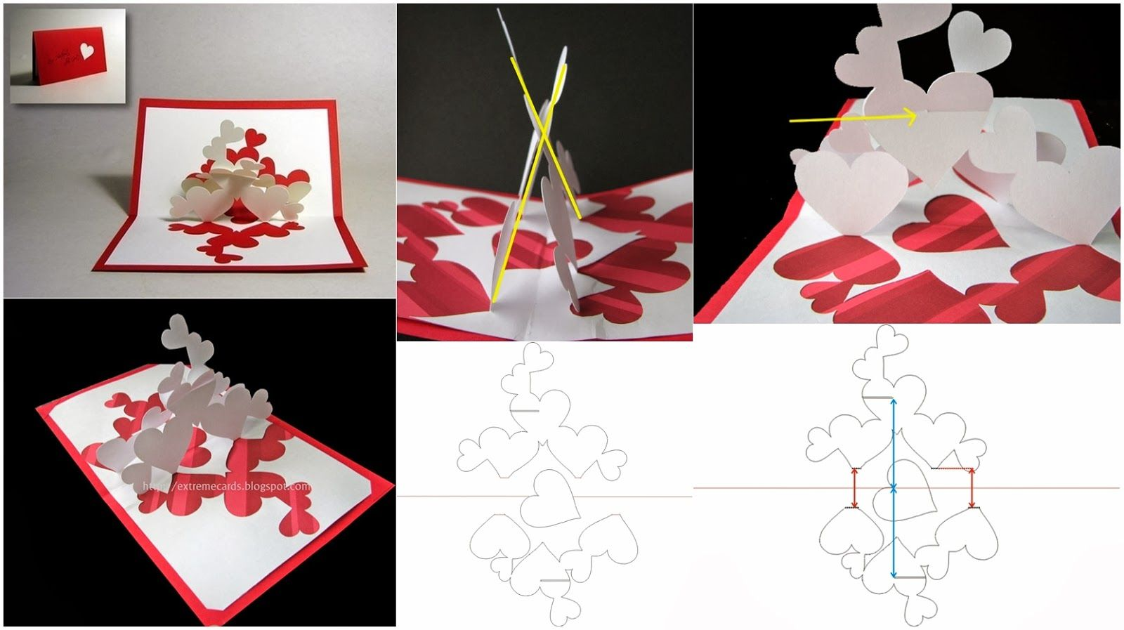 fold out heart cards - Google Search | Birthday cards, gift cards ...