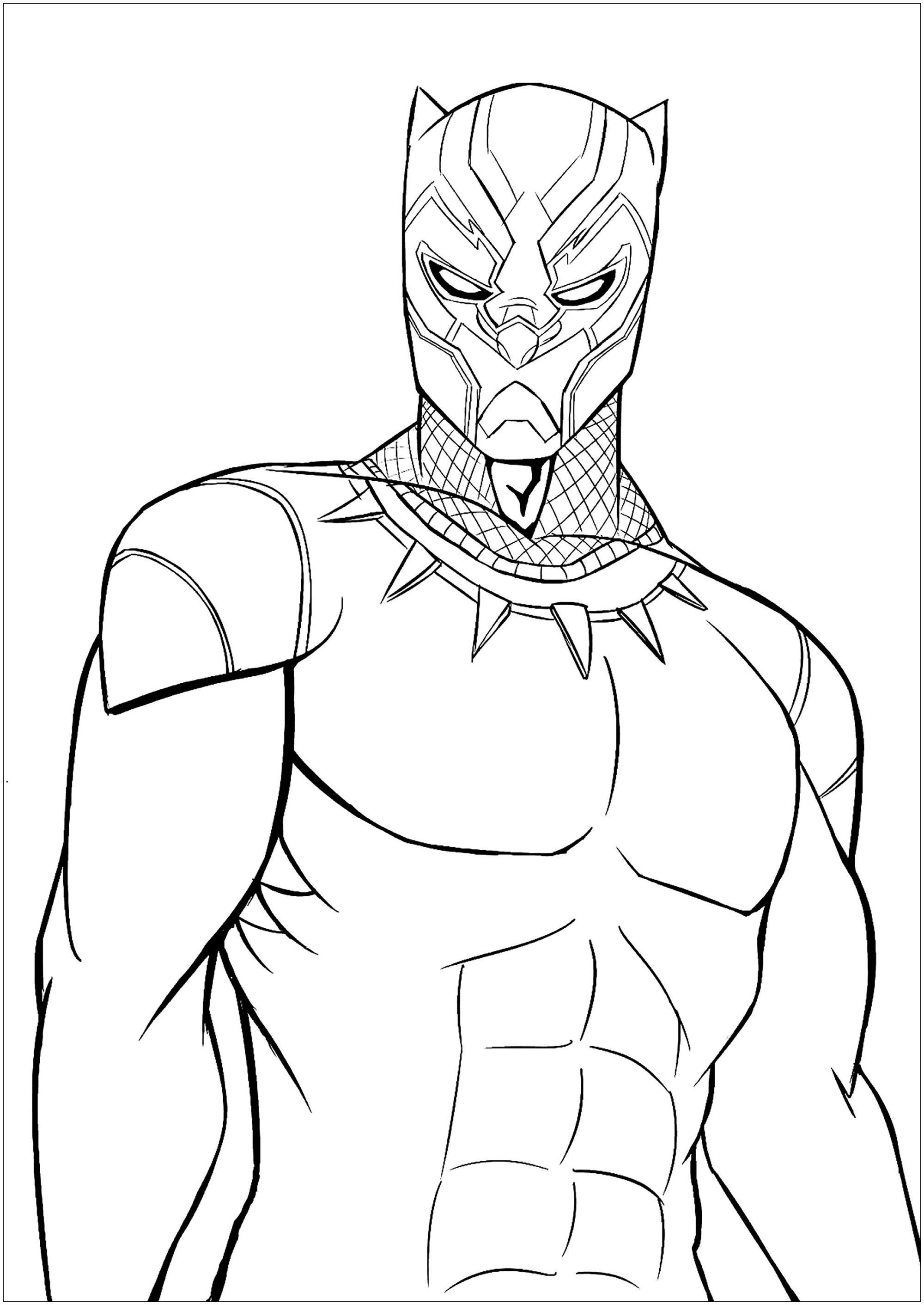 Black Panther Coloring Page To Print And Color For Free Avengers Coloring Pages Superhero Coloring Superhero Coloring Pages
