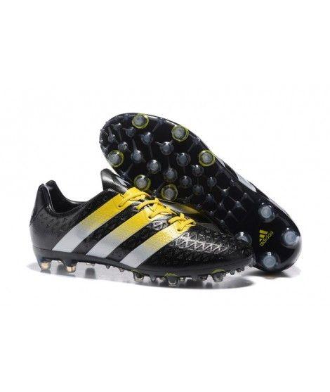 new product f8b47 1db64 ... Adidas ACE 16.1 FG TERRENO FIRME AG CÉSPED ARTIFICIAL Hombres Botas De Fútbol  Negro Amarillo Blanco ...